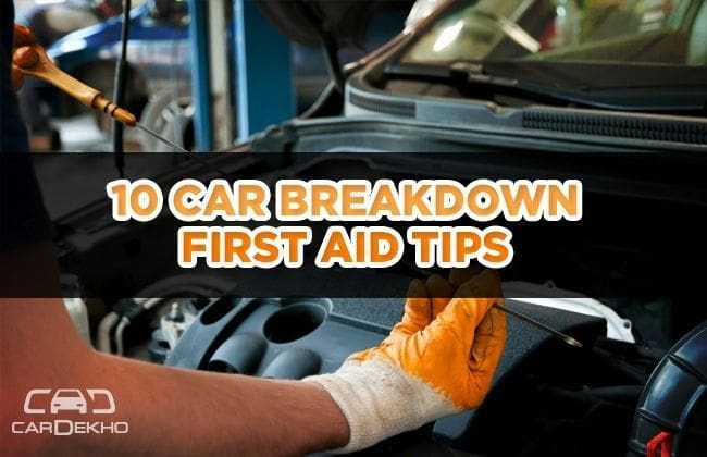 10 First aid tips for a car breakdown