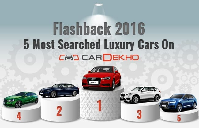 Flashback 2016 5 Most Searched Luxury Cars On Cardekho Cardekho Com