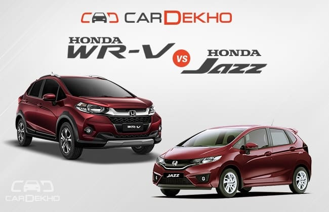Honda Wr V Vs Jazz What S Different Cardekho Com