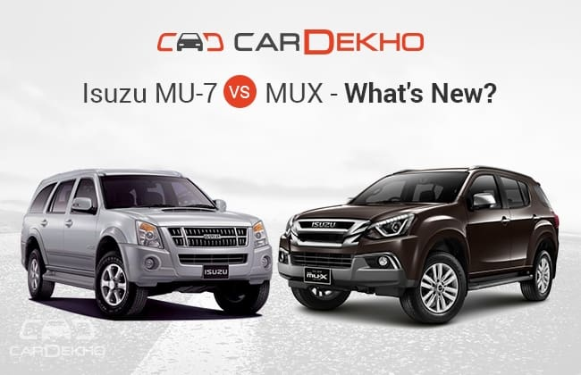 what s more on offer in the new isuzu mux over the mu7 cardekho com rh cardekho com 2015 All New Isuzu MU-7 Isuzu Panther