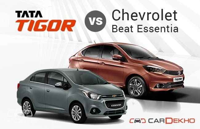 Tata Tigor vs Chevrolet Beat Essentia