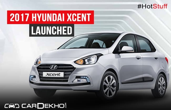 2017 Hyundai Xcent Facelift Launched At Rs 5 38 Lakh Cardekho Com