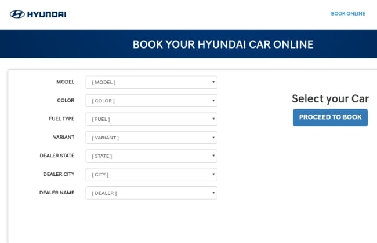 Hyundai India Opens Online Car Booking Service | CarDekho com