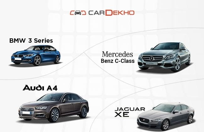 Bmw 3 Series Vs Mercedes Benz C Class Vs Audi A4 Vs Jaguar Xe