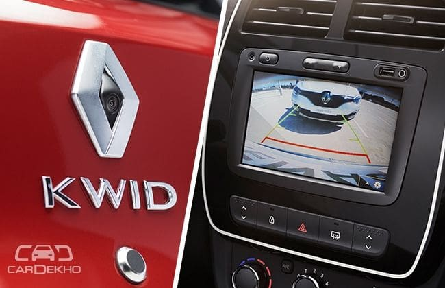 Brazil-spec Renault Kwid with rear parking camera