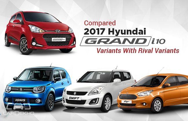 Grand i10 Facelift Vs Ignis Vs Figo Vs Swift: Variant-To-Variant Feature Comparison