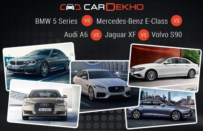 Bmw 5 Series Vs Mercedes Benz E Class Vs Audi A6 Vs Jaguar Xf Vs