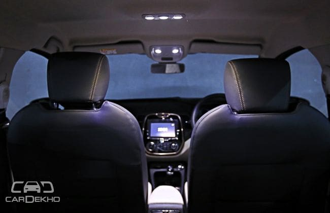 LED ambient lighting inside the cabin
