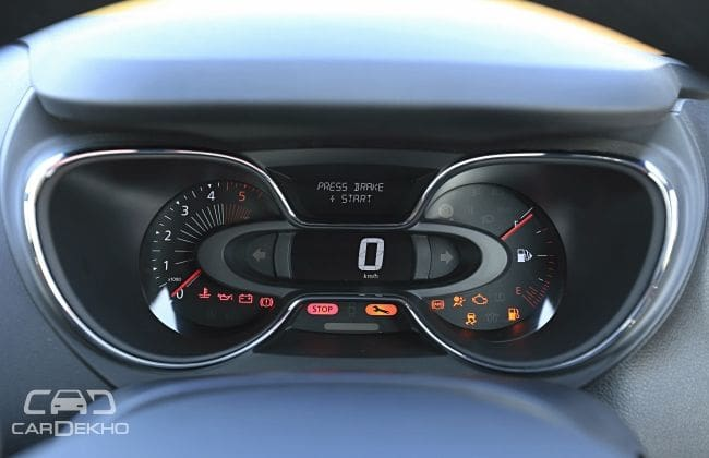 The Infinity instrument cluster