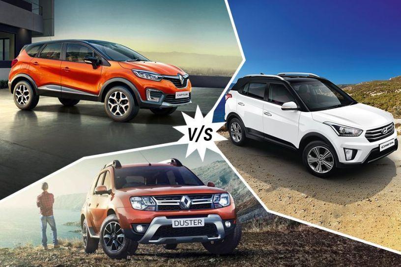 Renault Captur vs Hyundai Creta vs Renault Duster