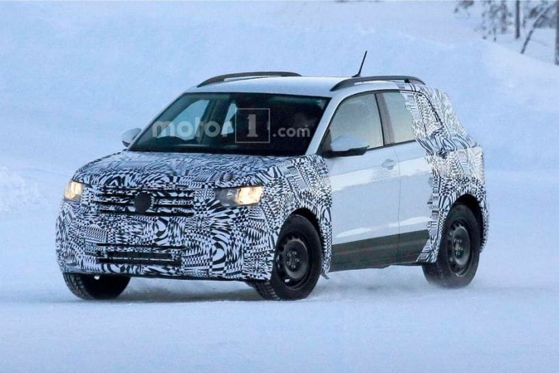 volkswagen t cross compact suv spotted testing again. Black Bedroom Furniture Sets. Home Design Ideas