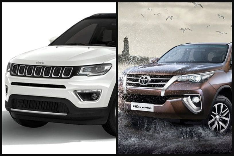 Jeep Compass Vs Toyota Fortuner Specifications And Features