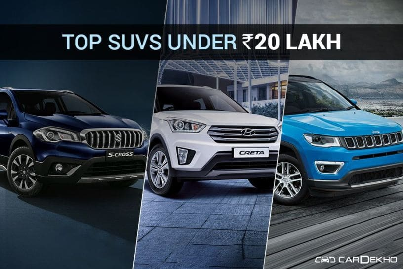 Top SUVs ?Under Rs 20 lakh