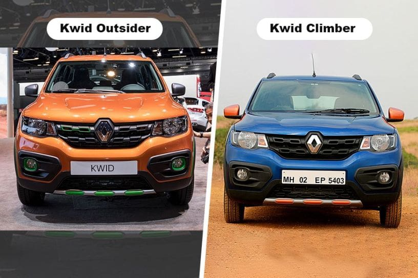 Renault Kwid Outsider vs Renault Kwid Climber - What's Different?