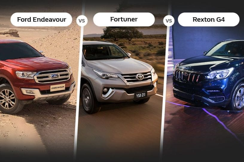 Mahindra Rexton Vs Toyota Fortuner Vs Ford Endeavour Specifications