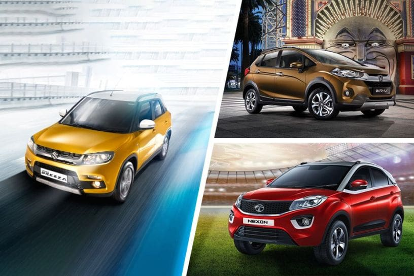 Maruti Vitara Brezza vs Honda WR-V vs Tata Nexon: Real-world Performance & Mileage
