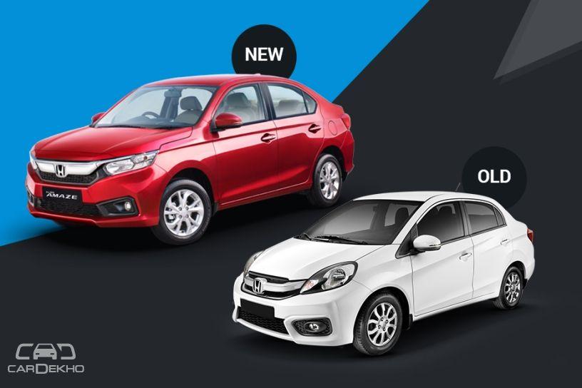 Honda Amaze Old Vs New Major Differences Cardekho Com