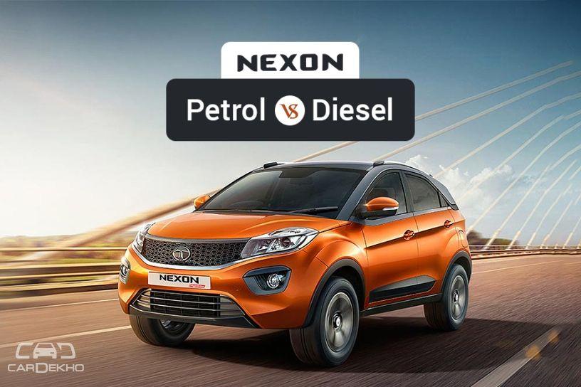 Tata Nexon Petrol వర్సెస్ Diesel