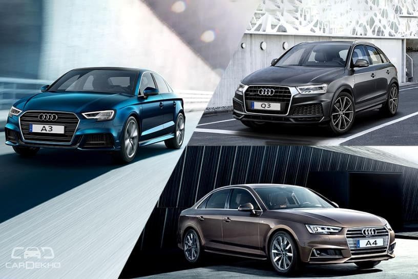 Audi A3 Vs A4 Vs Q3 Real World Performance Comparison Cardekho Com