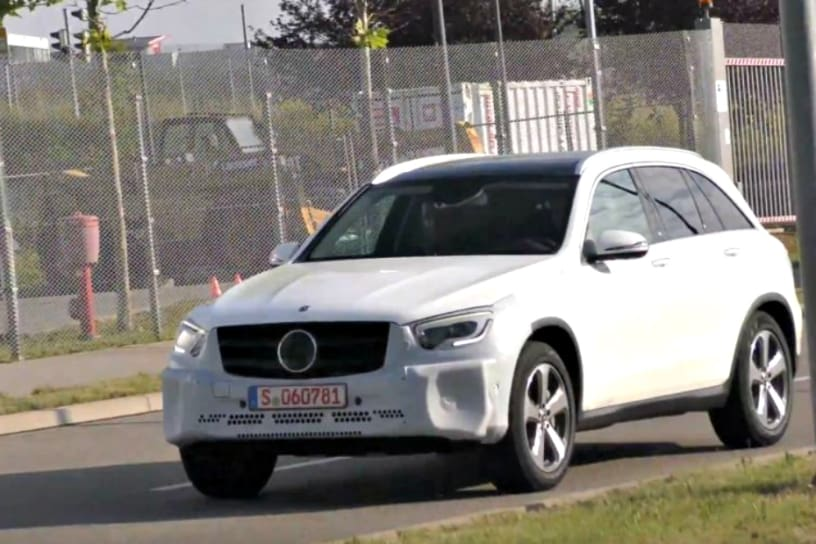 Mercedes benz glc facelift spied for Mercedes benz news