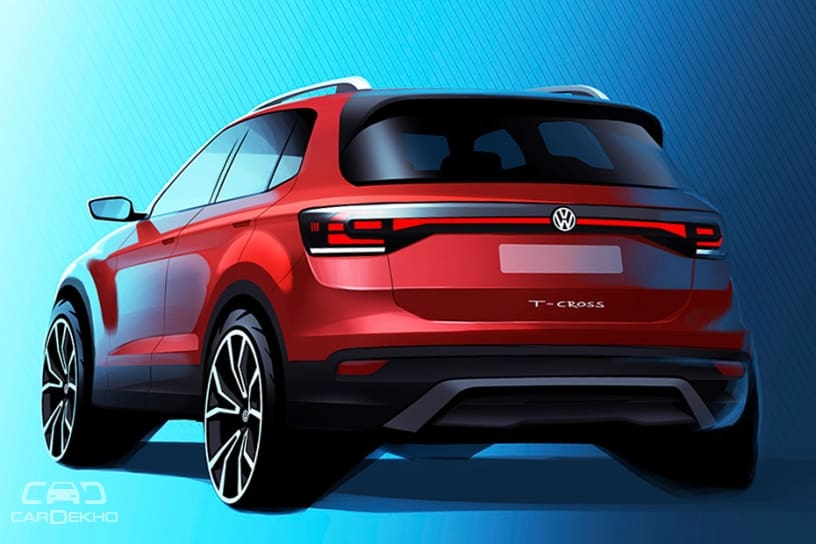 Sketch of the rear of the T-Cross