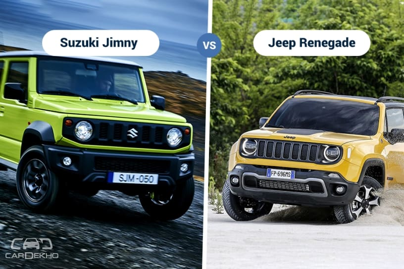 2018 suzuki jimny vs jeep renegade specifications features comparison. Black Bedroom Furniture Sets. Home Design Ideas