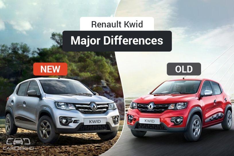 2018 Renault Kwid Old Vs New Major Differences Cardekho Com