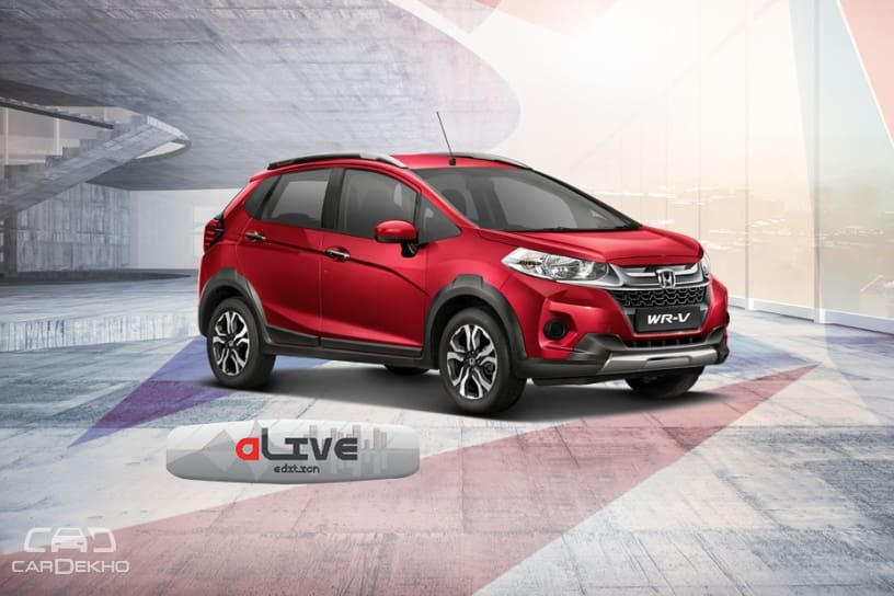 Honda Wr V Alive Special Edition Launched At Rs 8 02 Lakh Cardekho Com