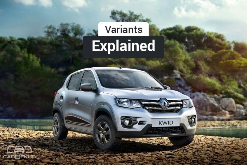 2019 Renault Kwid: Variants Explained