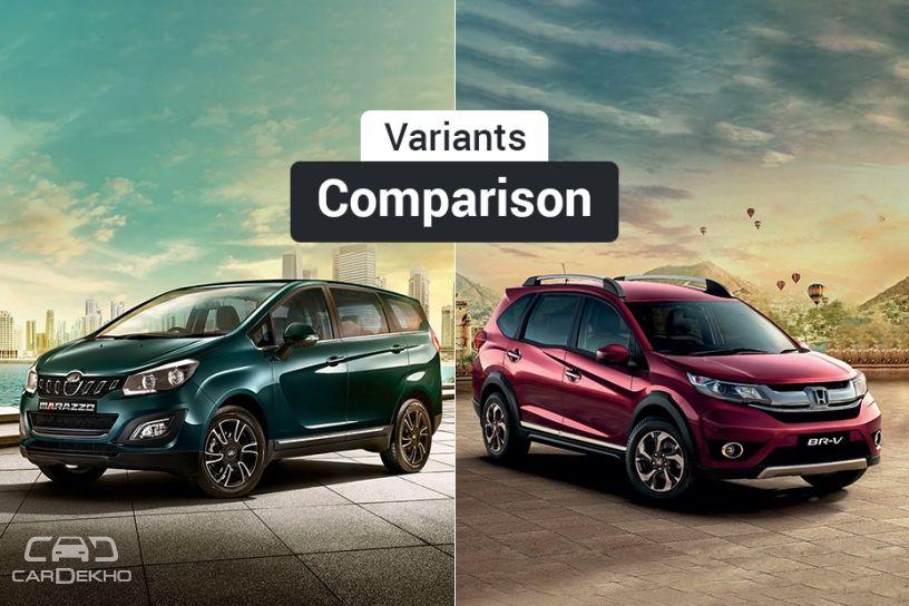 Mahindra Marazzo vs Honda BR-V: Variants Comparison