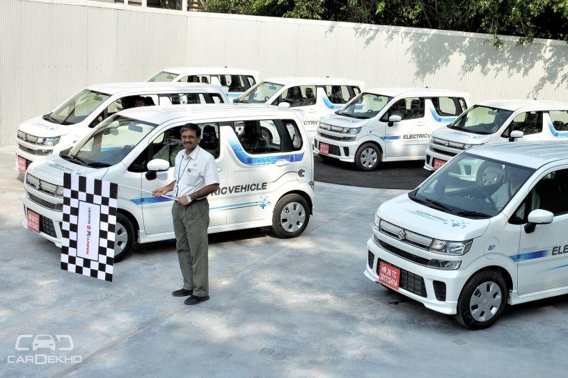 Maruti Flags Off EV Prototypes For Testing