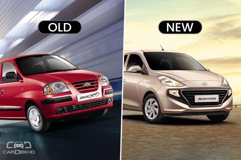 Hyundai Santro Old Vs New Major Differences Cardekho Com