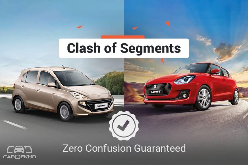 Clash Of Segments: Hyundai Santro Vs Maruti Suzuki Swift