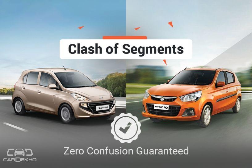 Clash of Segments: Hyundai Santro vs Maruti Alto K10 - Which Car To Buy?