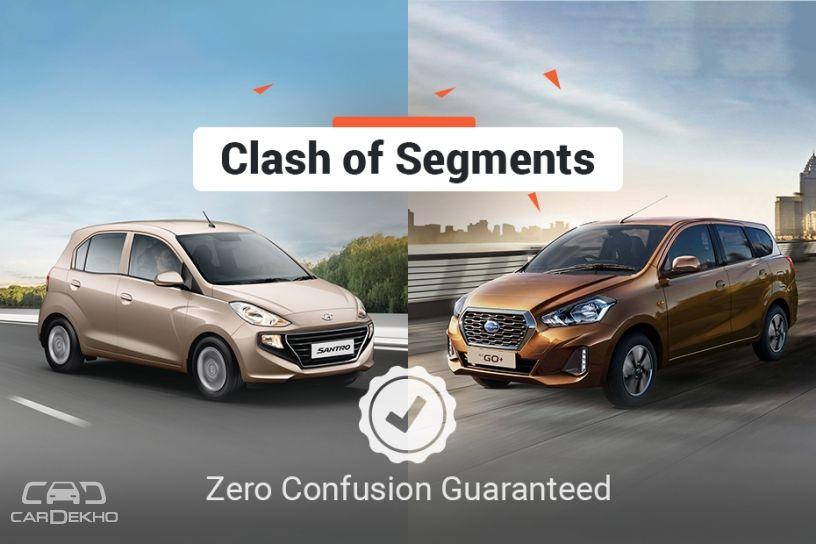 Clash of Segments: Hyundai Santro vs Datsun GO+ - Which ...