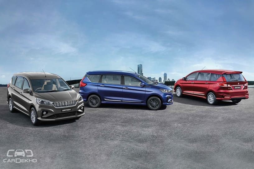 2018 Maruti Ertiga Official Accessories Includes Black Alloy Wheels, Touchscreen Infotainment System & More