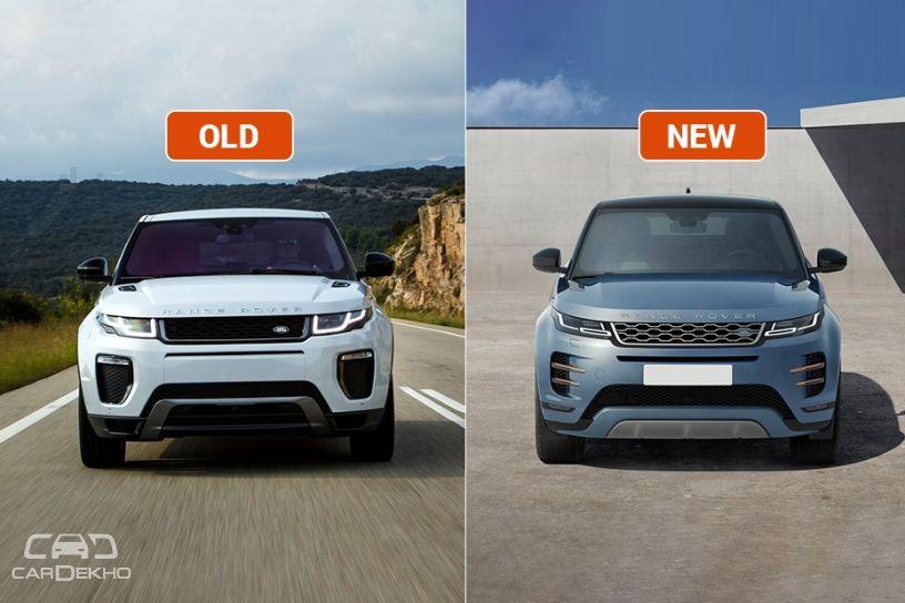 Range Rover Evoque Old Vs New Major Differences Cardekho Com
