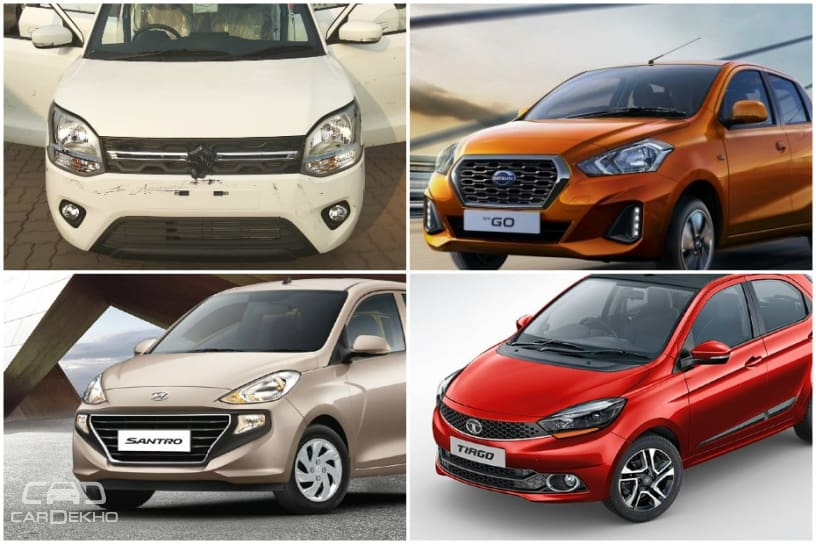 Maruti Wagon R 2019 vs Santro vs GO vs Tiago