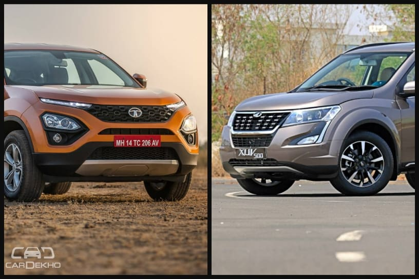 Tata Harrier vs Mahindra XUV500: Variants Comparison