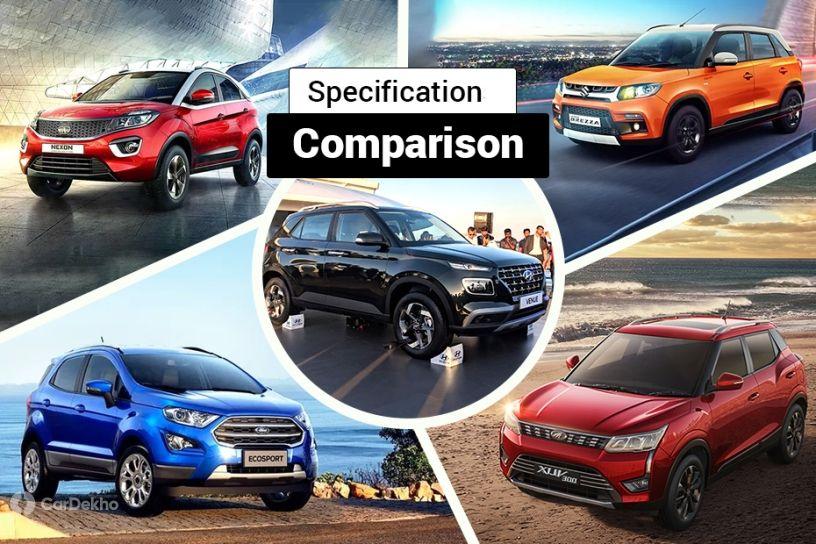 Hyundai Venue Vs Rivals: Spec Comparison