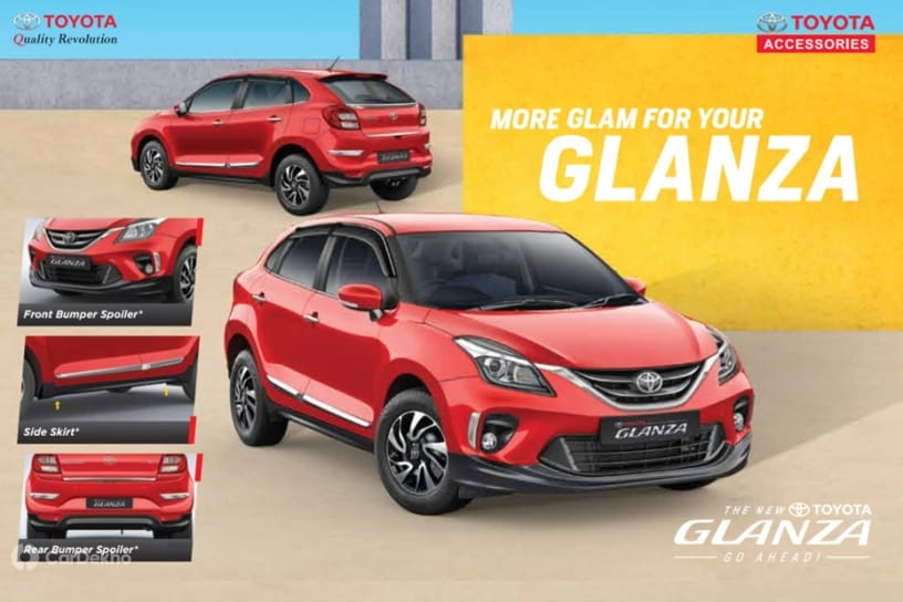 Toyota Glanza Accessories Revealed