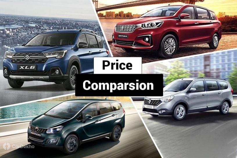 Maruti XL6 vs Maruti Ertiga vs Mahindra Marazzo vs Renault Lodgy: What Do The Prices Say?