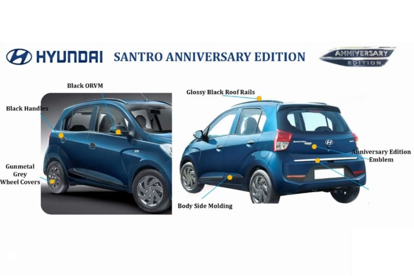 Hyundai Santro Anniversary Edition Revealed, Prices Start At Rs 5.17 Lakh