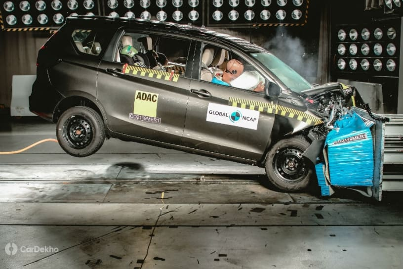 Maruti Ertiga Gets 3-Star Rating In Global NCAP Crash Tests