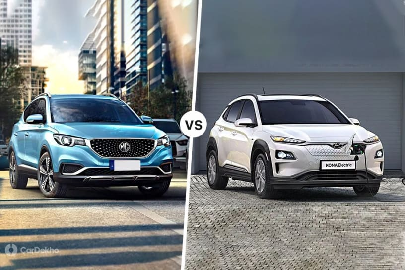 MG ZS EV vs Hyundai Kona Electric: Specs & Features Comparison