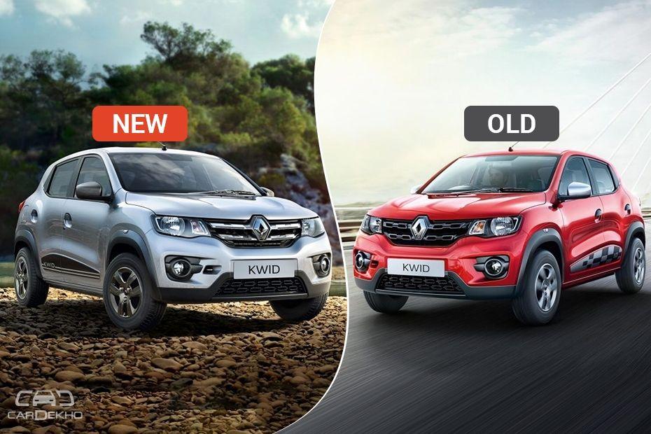 Renault Kwid old vs new