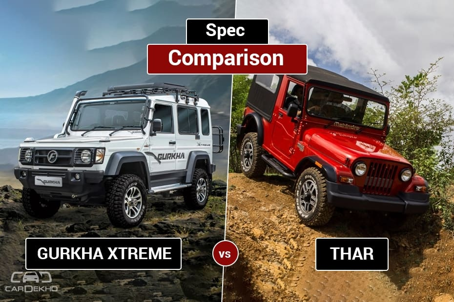 Force Gurkha vs Mahindra Thar