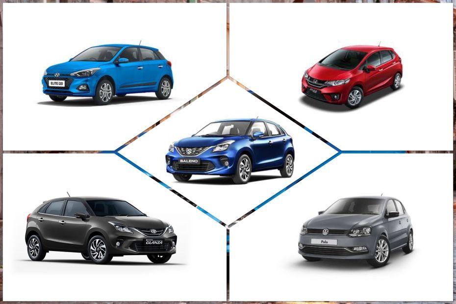 Toyota Glanza, Maruti Baleno, Hyundai Elite i20, Volkswagen Polo, Honda Jazz