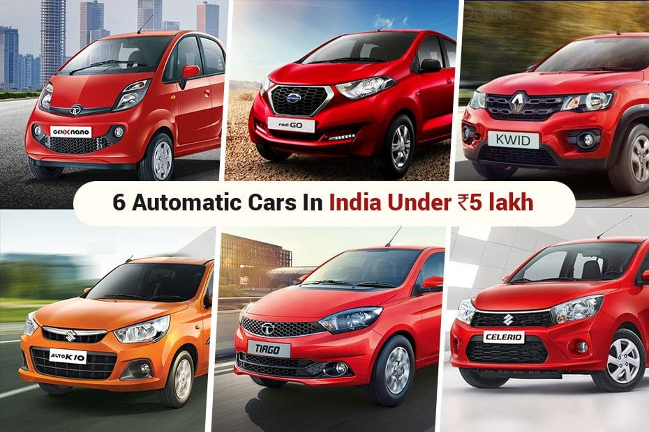 Automatic Cars In India Under Rs 5 Lakh Renault Kwid Datsun Redi