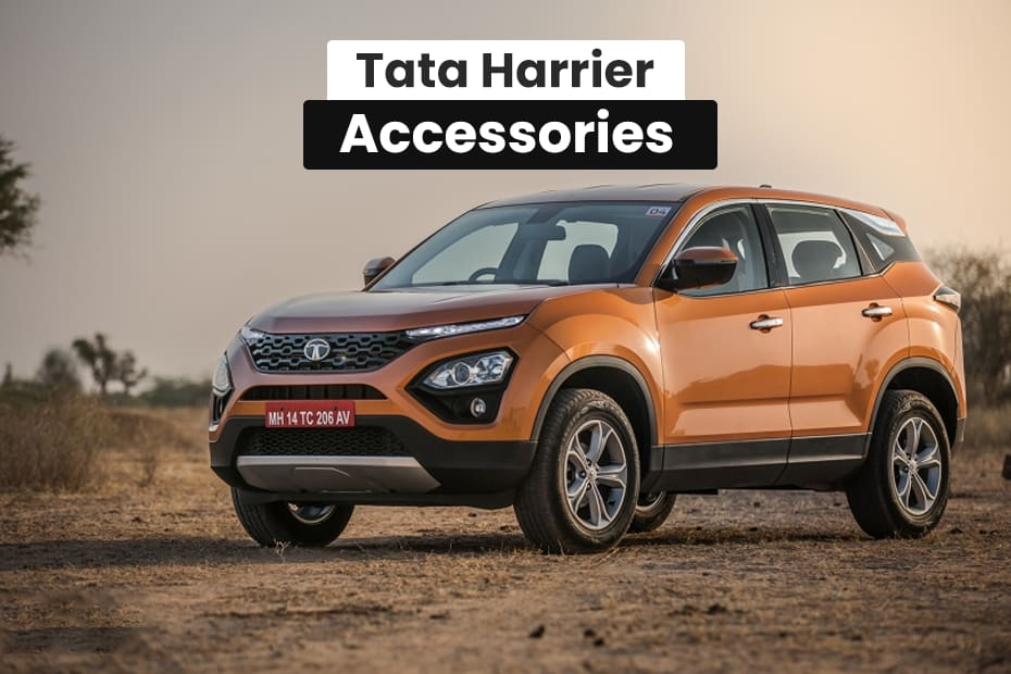 Tata Harrier Accessories Gets Roof Rails Chrome Garnish More No